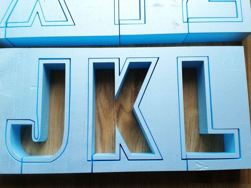 Buchstaben Schriftzuge X Fach Betongiessform Buchstabe
