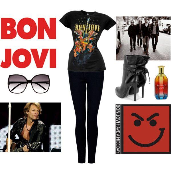 Concert Wear: Bon Jovi, created by sassystylista on Polyvore