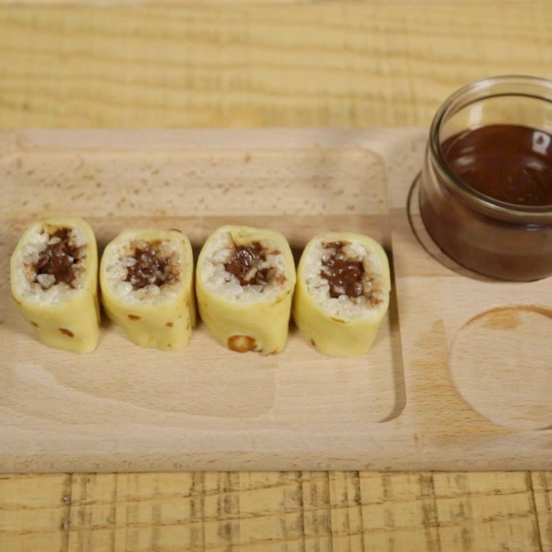 Maki au Nutella | Recette | Nutella, Recette, Alimentation