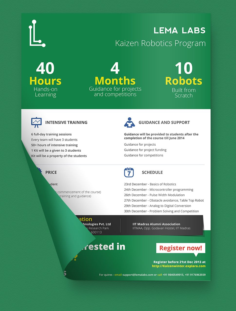 Poster design kit - Corporate Style Poster Design For Lema Labs Designed By Webdefy Robotics Green