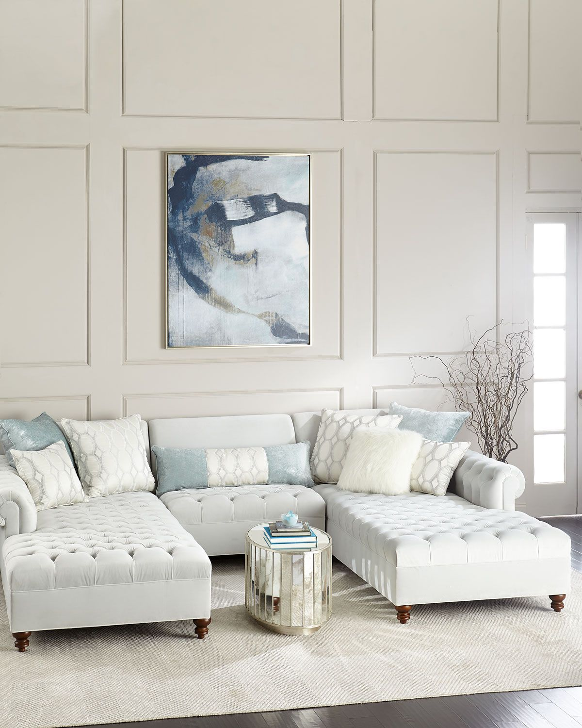 Elyse Tufted Double Chaise Sectional | design | Pinterest | House