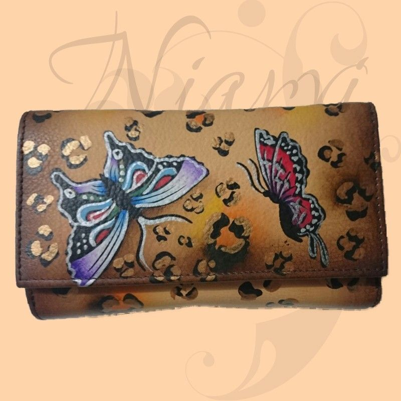 214e76244 Cartera pintada a mano | MONEDEROS | Bags y Fashion