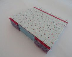 Caderno Florzinha Azul