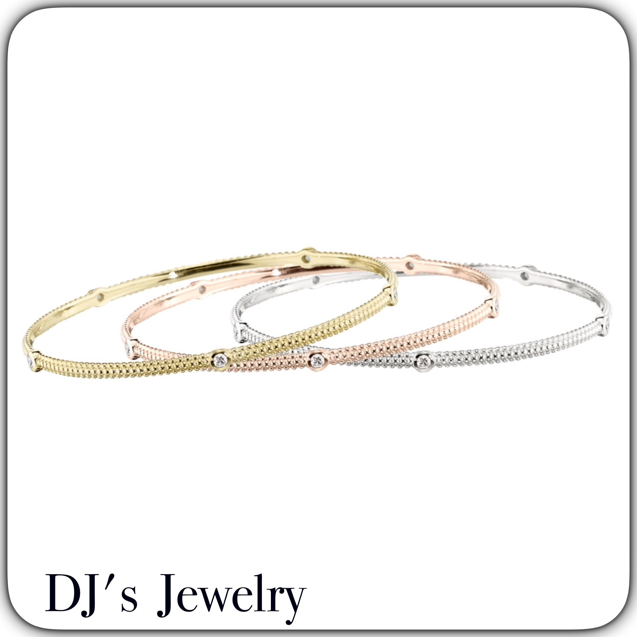gold stacking product kwiat bracelets bangle gallery normal bangles bracelet white diamond black jewelry lyst stackable