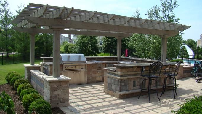 pergola outdoor kitchen plans | pergolas: italian 1675, a pergola