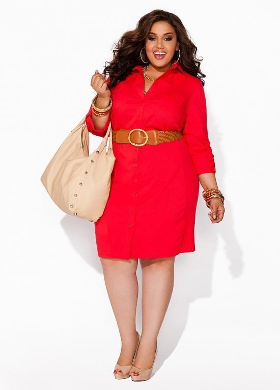 Boyfriend Shirt Dress in Red!♥