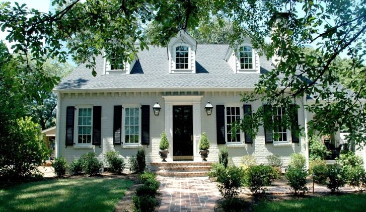 Sherwin Williams Alabaster 7008 Painted Brick House Painted