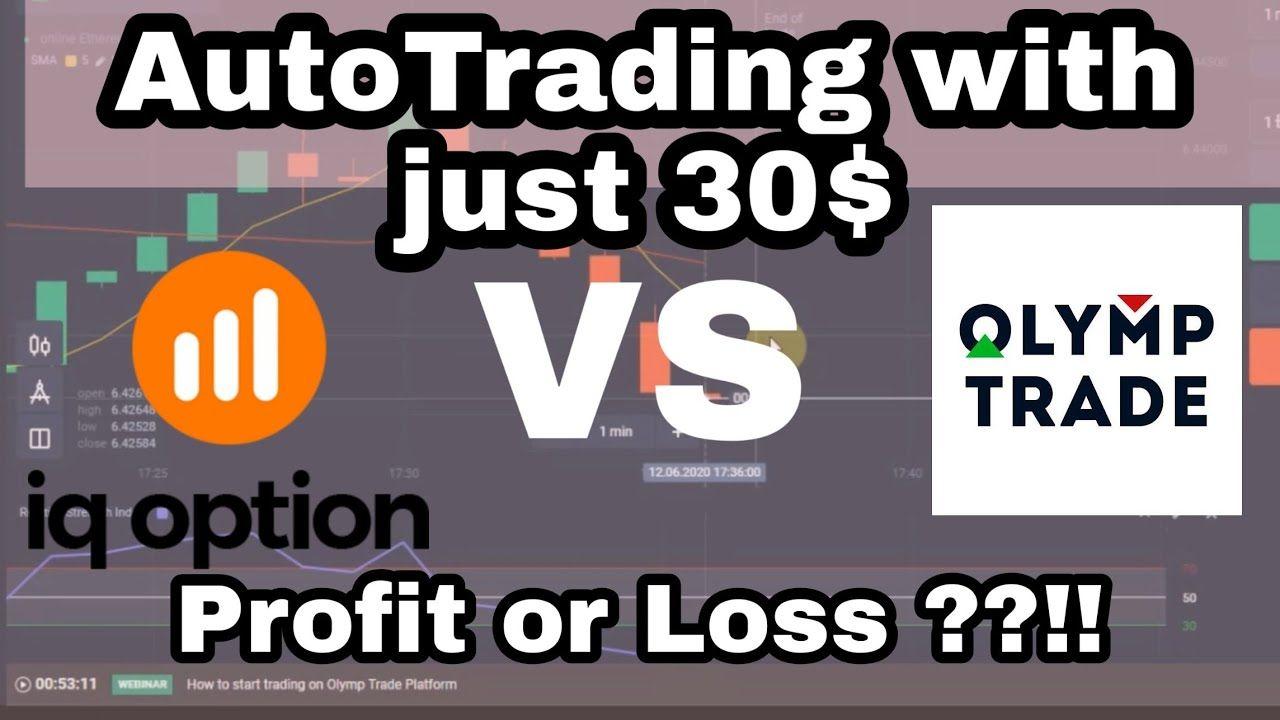 Iq Bot Vs Olympbot Trading On Otc Market Trading Marketing Option Trading