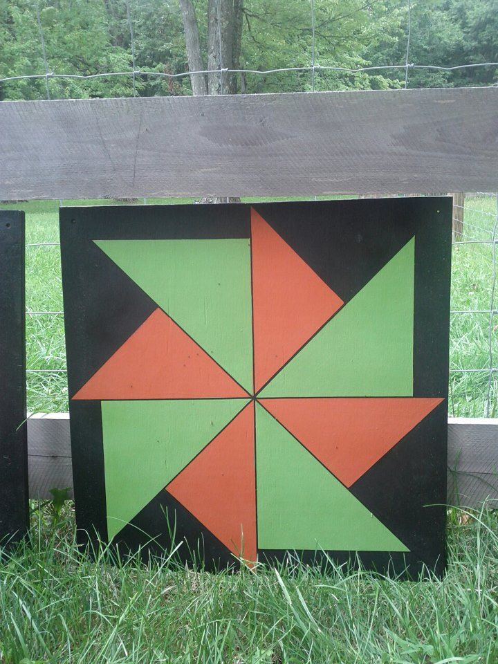 """A long-time friend of mine, Jerrie, from my home town is a very gifted """"barn quilter."""" Today, I'd like to show you some of her designs. She ..."""