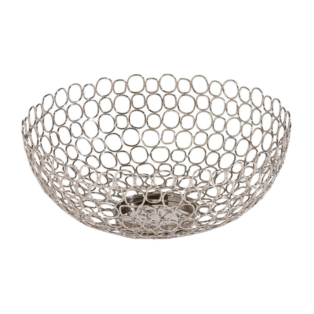 Silver home decor. Open Weave Bowl - Ethan Allen US. Silver bowls.