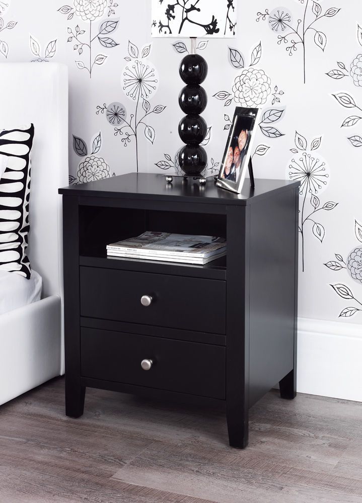Best Bedside Table Times 2 Black Bedside Table Black 400 x 300