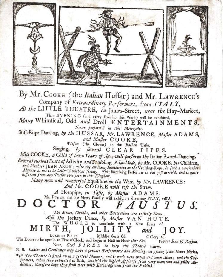 Circus poster london history entertaining droll