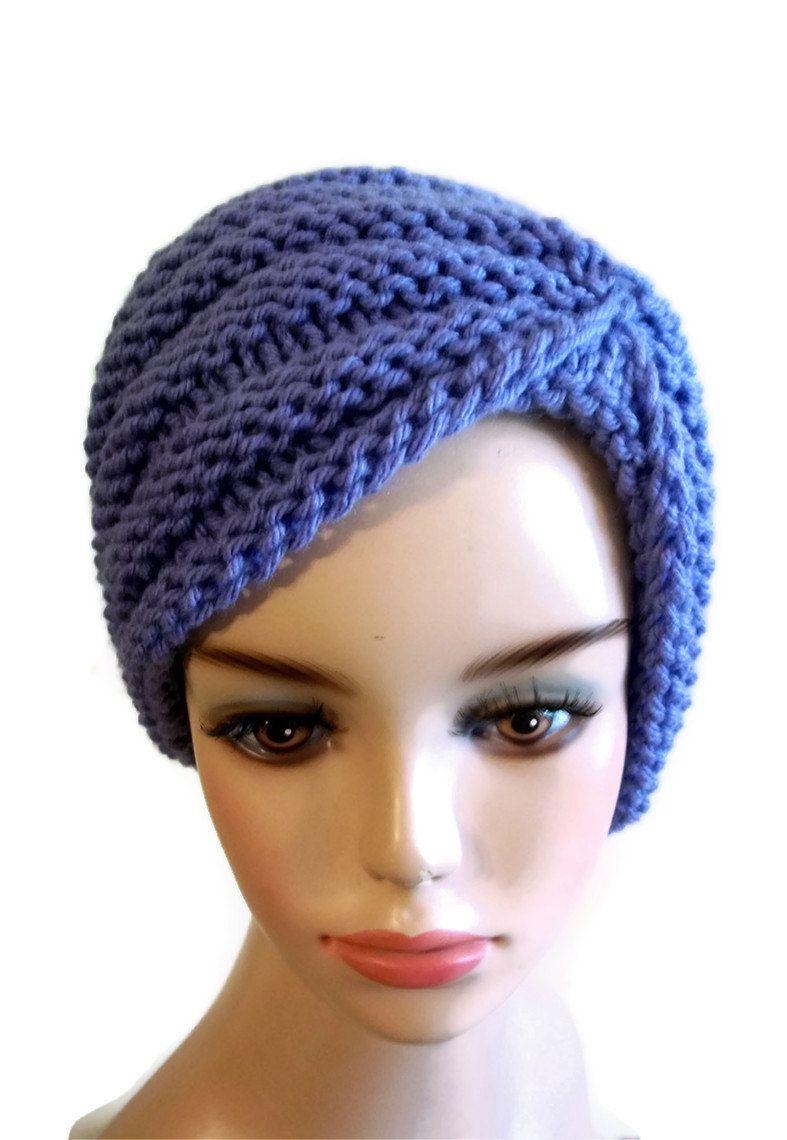 Knitting pattern turban hat diy pinterest turban hat turban knitting pattern turban hat baditri Images