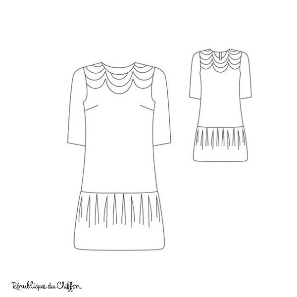 Robe VIVIANE | robe | Pinterest | Robe, Sew pattern and Dress patterns