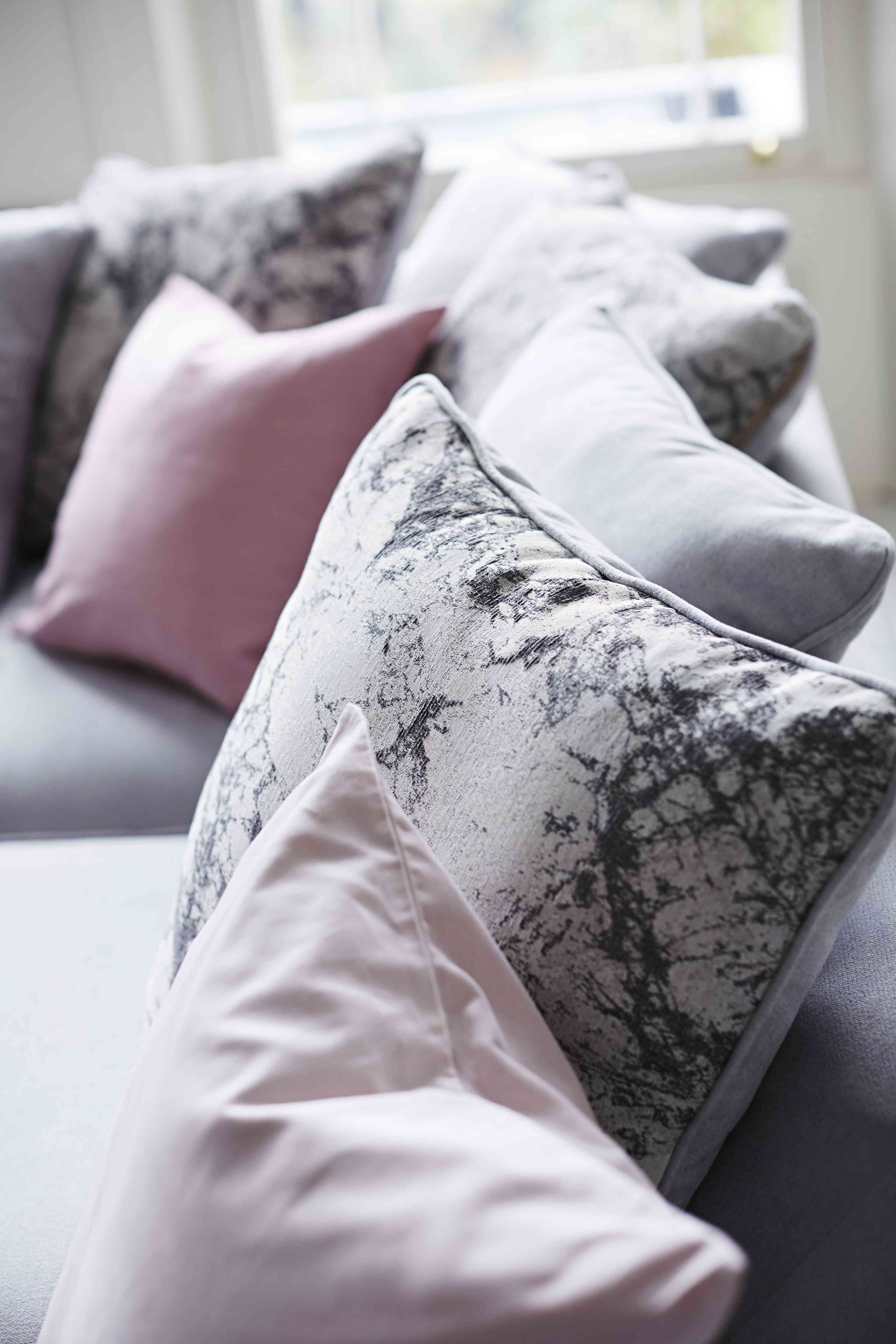 Marble Print Cushions Offset #pastels Perfectly