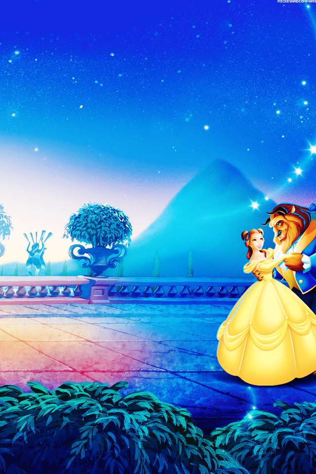 Mickey and Company Beauty and the beast wallpaper iphone