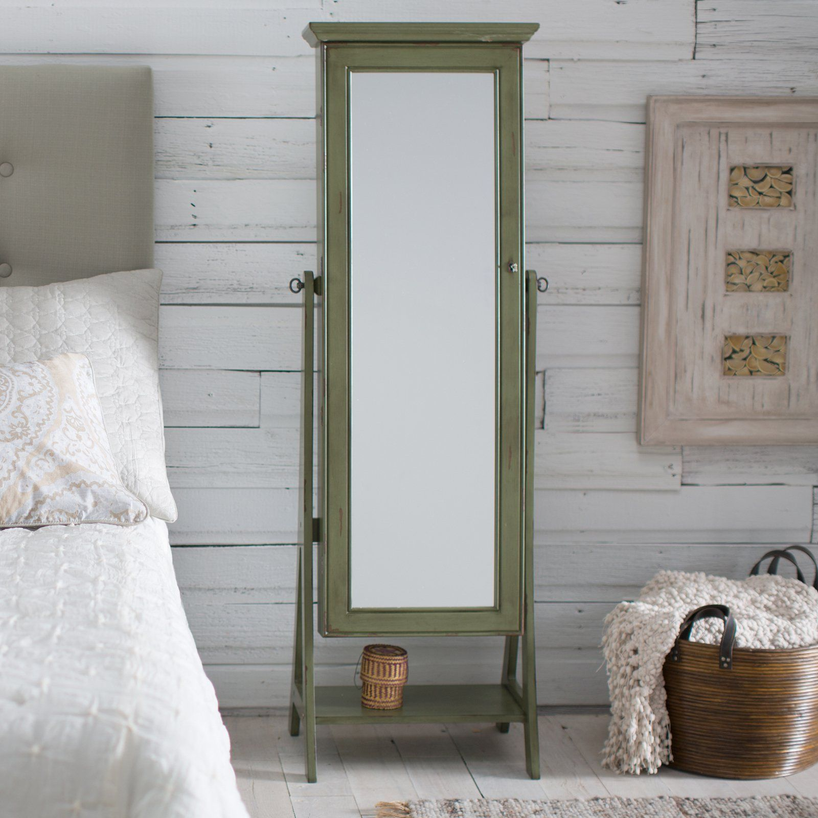 Would love to have this Belham Living Distressed Green Cheval