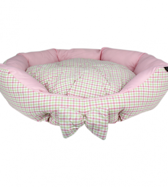 Parisian Pet Pinkberry Plaid Dog Bed Dog bed, Cool dog