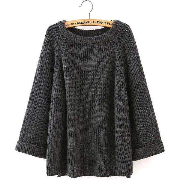 Yoins Yoins Ribbed Knit Jumper ($29) ❤ liked on Polyvore featuring tops, sweaters, grey, sweaters & cardigans, rib knit sweater, ribbed sweater, ribbed knit top, grey ribbed sweater y long sleeve tops
