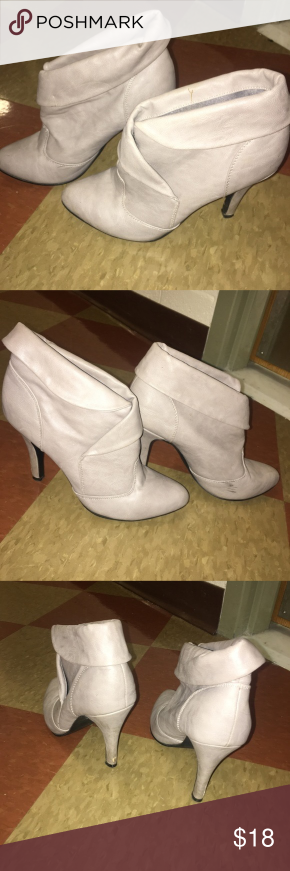 8ade75ed7c34 2  20 Forever 21 Taupe Heel Ankle Booties Small scuff on left shoe. Gray  color Very comfortable Size 8 4  heel Make me an offer! Bundle items with  red dots ...