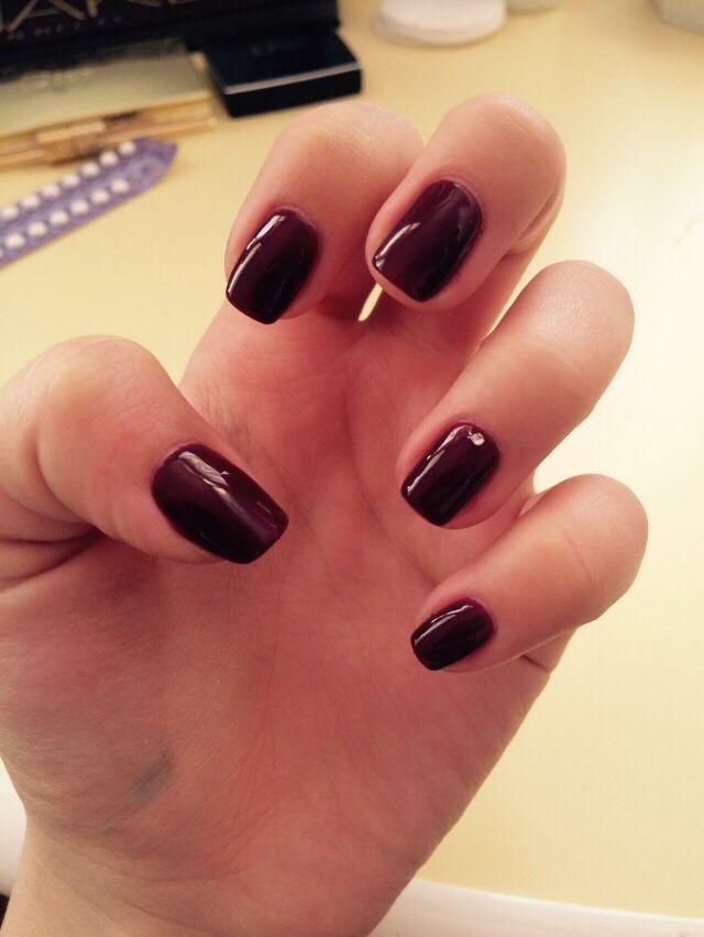 #nails#brown#diamond