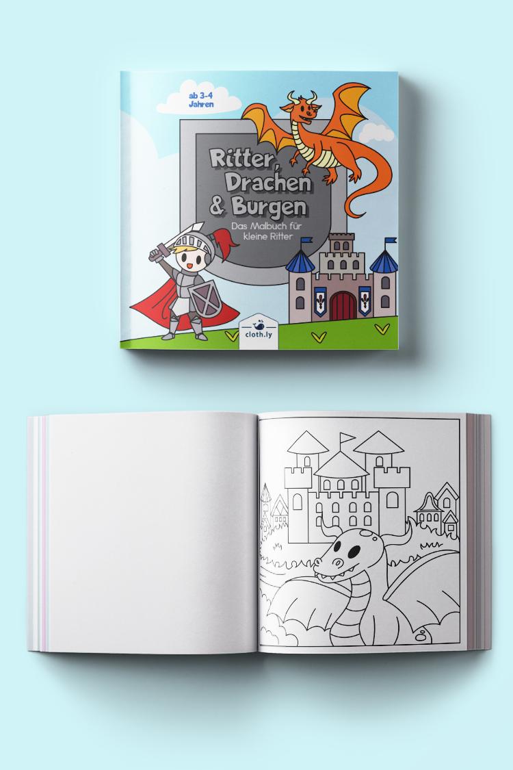 Ritter Drachen Burgen Das Malbuch Fur Kleine Ritter Kinder Malbuch Wenn Du Mal Buch Drachen
