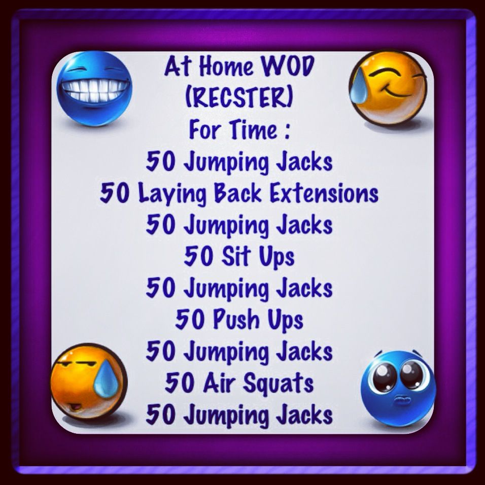 At home WOD anyone can do without equipment | Workout- Crossfit ...