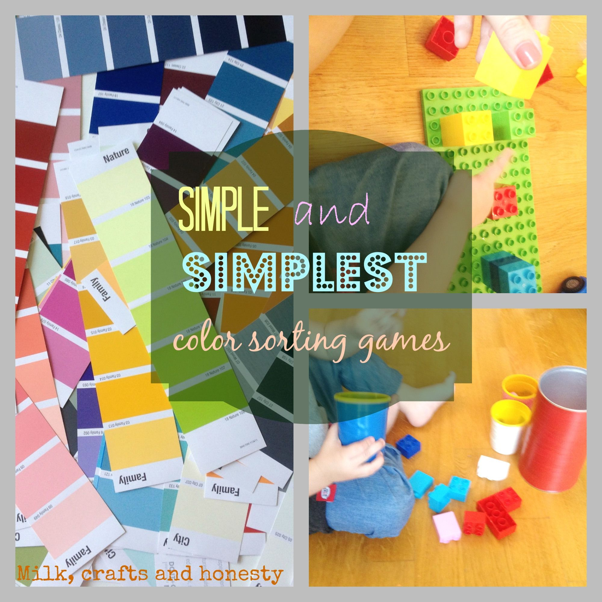Simple to set up color sorting games for young toddlers. | KBN ...
