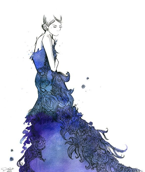 Crazy fashion sketches of dresses