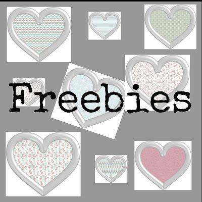Freebies para ti : Freebies : 10 corazones metálicos con  papel navid...
