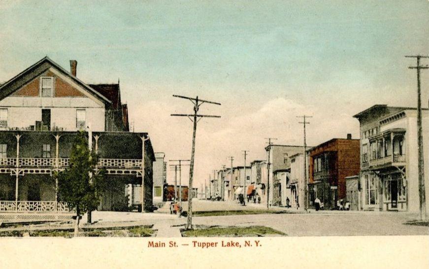 The Corner of Park St. And Wawbeek Ave, Tupper Lake, N.Y.