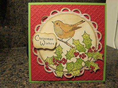 Christmas wishes-Love the circle scalloping