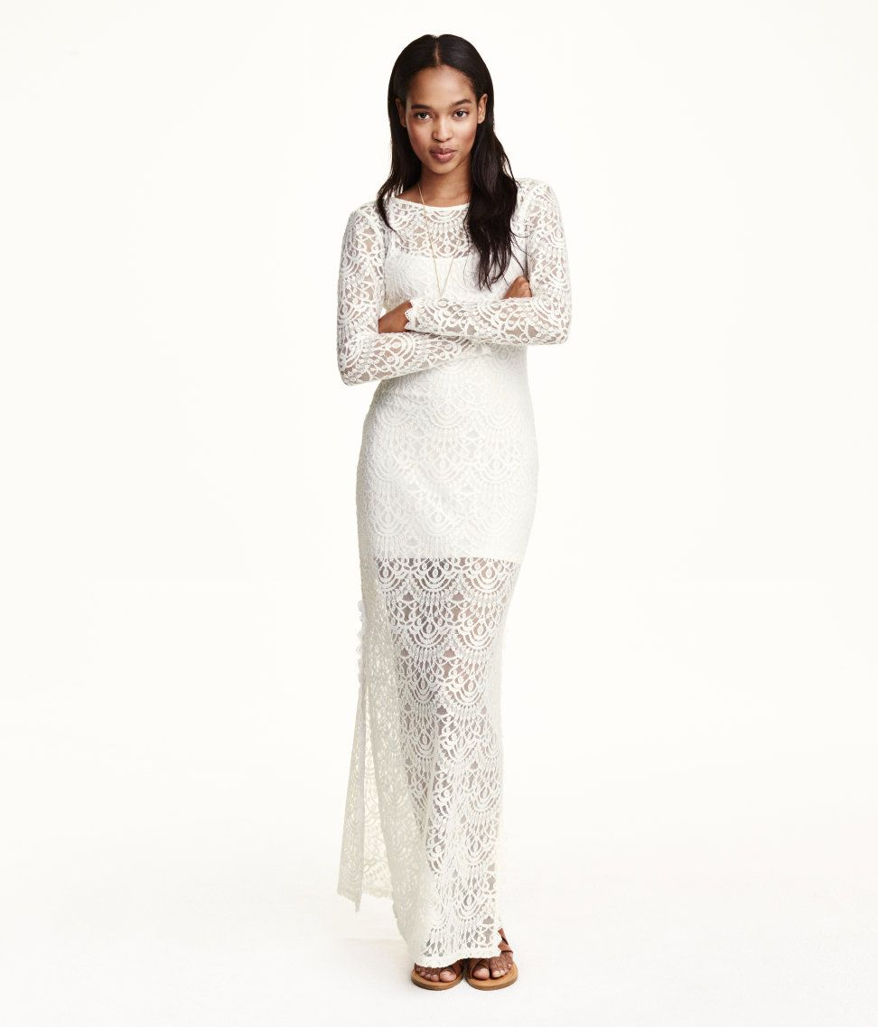 H&M offers fashion and quality at the best price. Lace Maxi DressesWhite ...