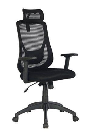 VIVA OFFICE Silla ergonómica de oficina de malla con respaldo alto ...
