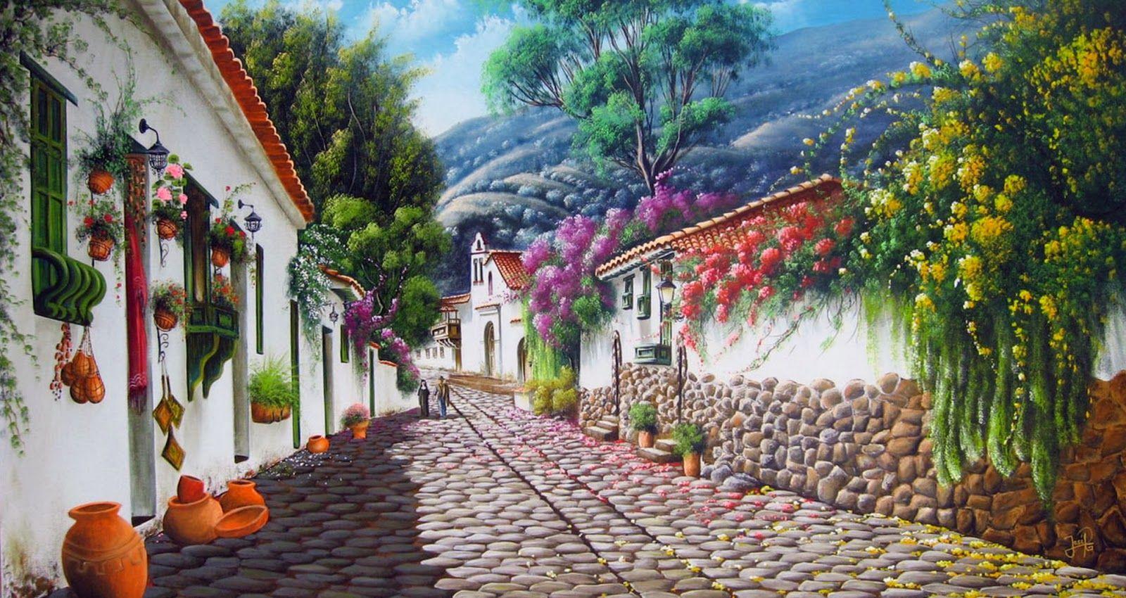 Pintores de paisajes colombianos cuadros al oleo dibujo for Pintor y muralista colombiano