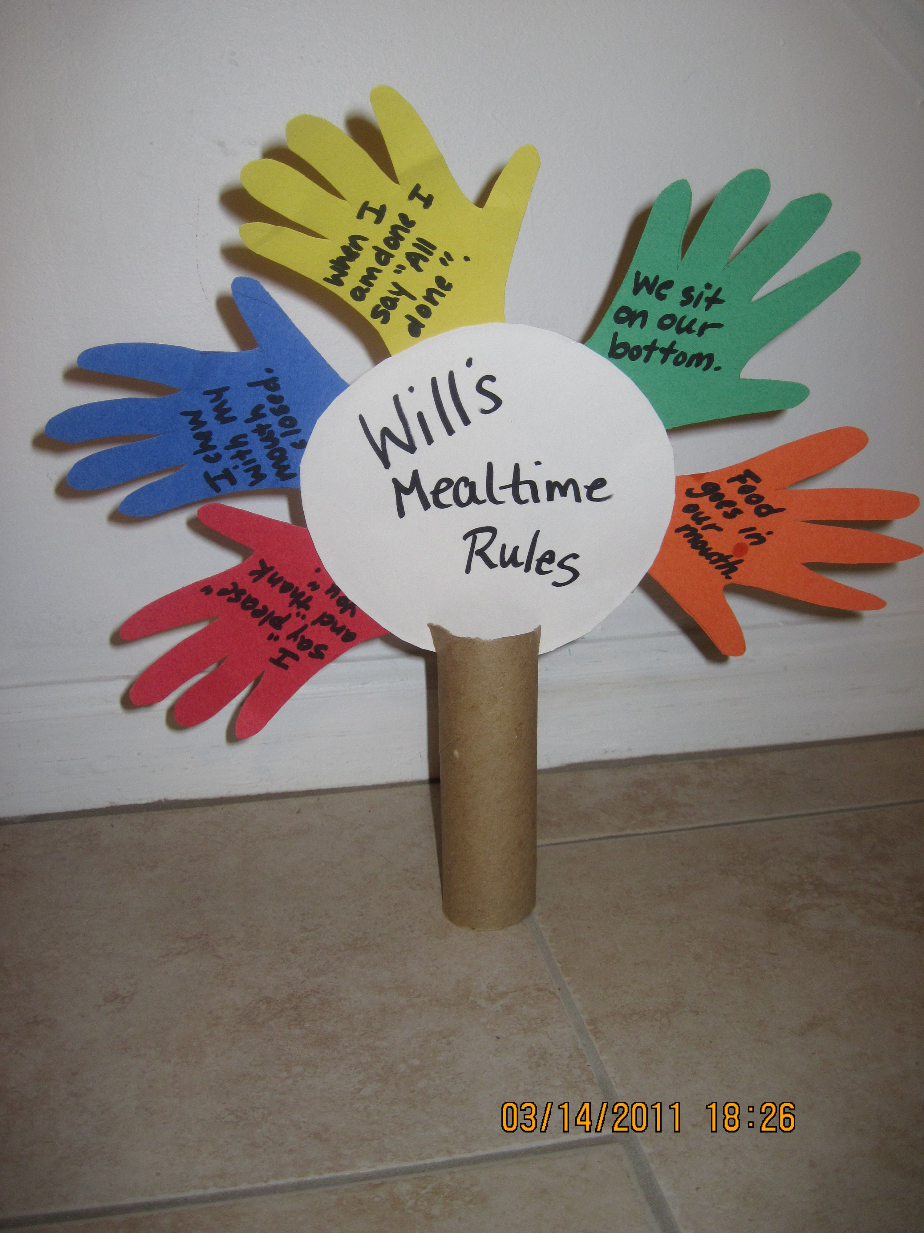 Frugal And Fun Craft For Kids Fun Idea For Teaching Manners Amp Rules