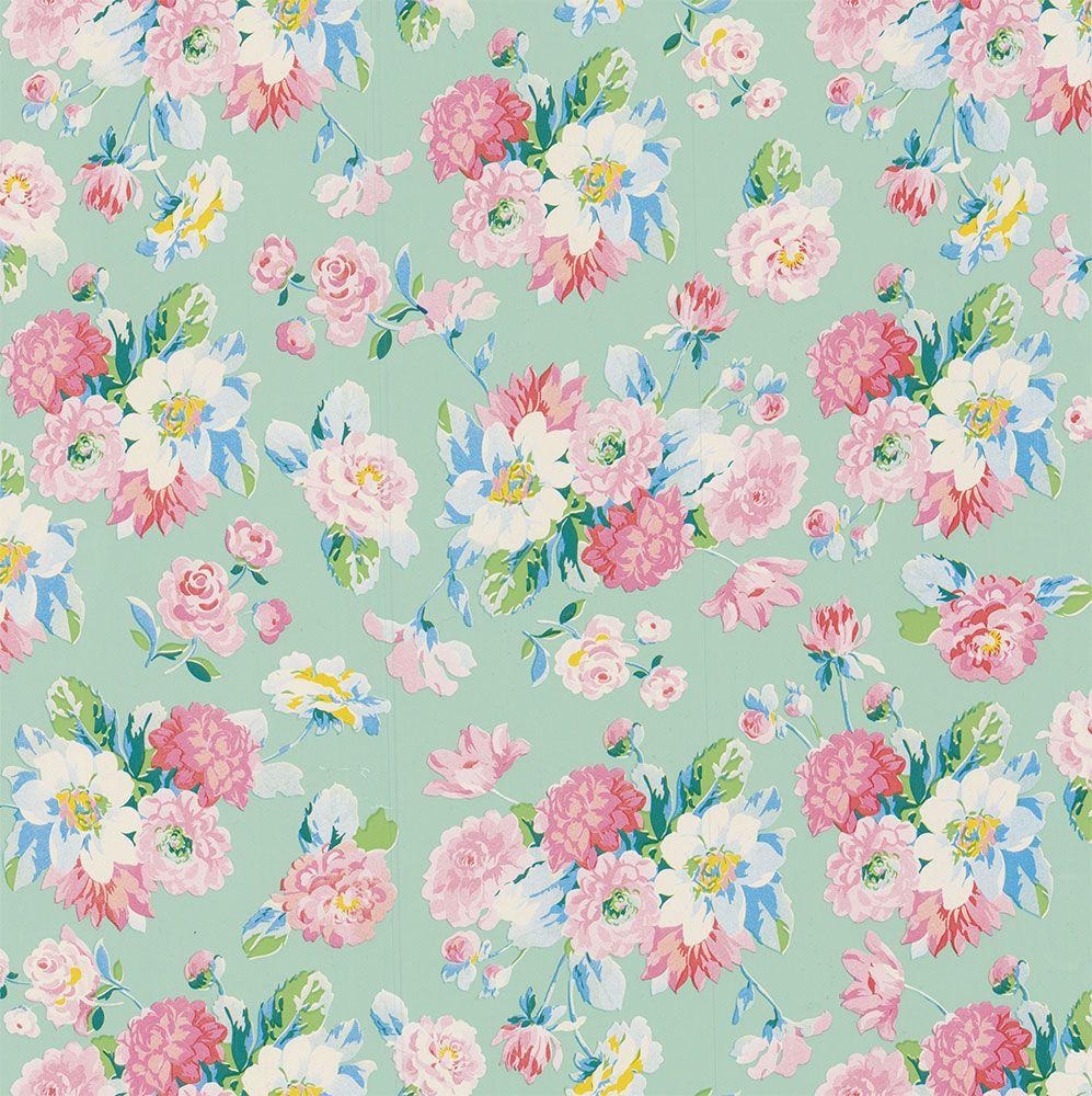 la vie en rose mint wallpaper by paper moon pastelaria