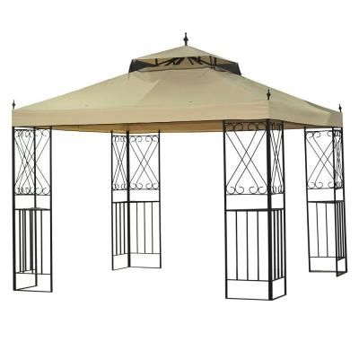Sparta 12 Ft X 10 Ft Gazebo L Gz288pst 4d The Home Depot Gazebo Replacement Canopy Gazebo Replacement Canopy