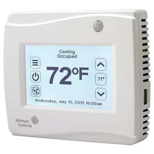Johnson Controls Tec3621 00 000 Thermostat 7in 4 Out Sensor Yes