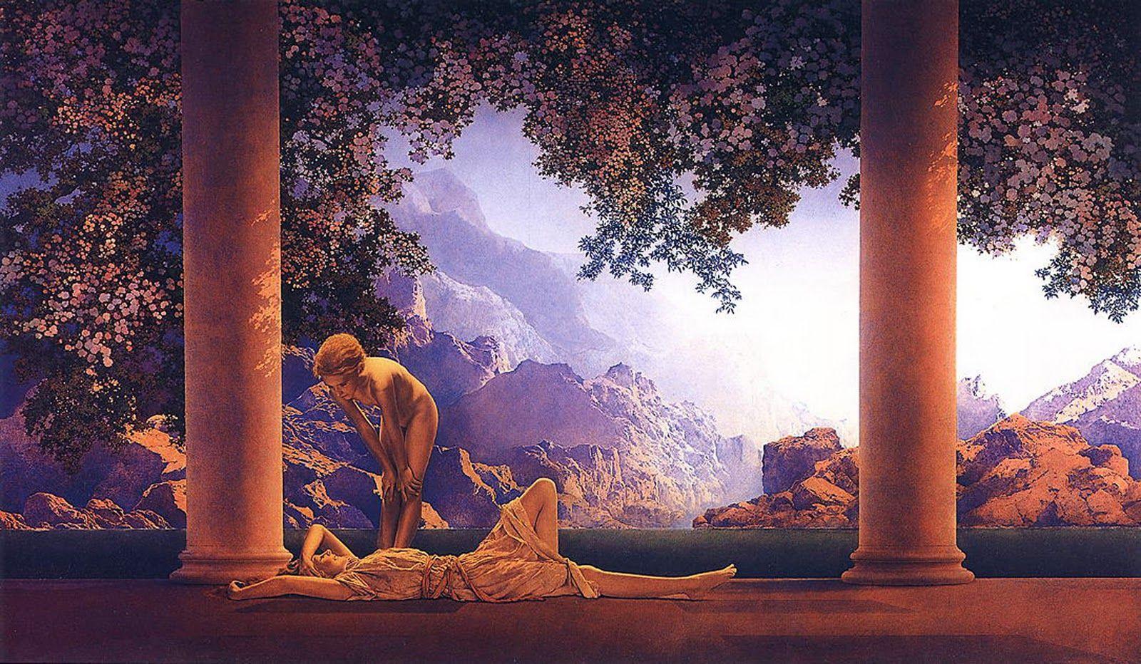 Maxfield Parrish, 'Daybreak', 1922 (67,3 × 114 cm)