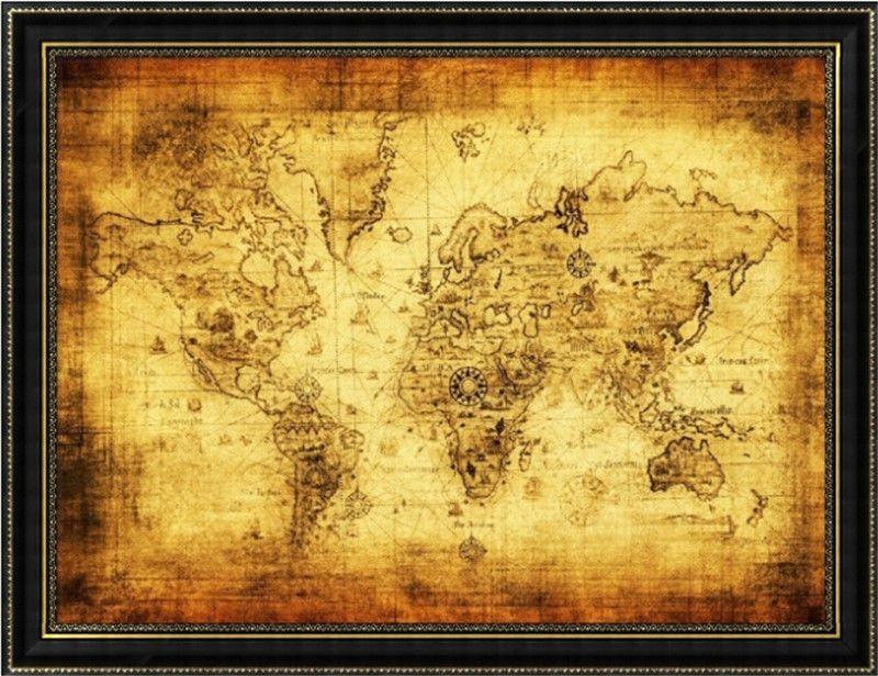 Large Vintage Retro Paper Poster Globe Old World Map Home Decoration - Large decorative maps