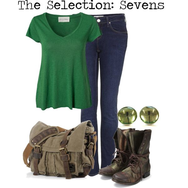 The Selections: Sevens by charlizard on Polyvore featuring polyvore fashion style American Vintage Topshop Jeffrey Campbell theselection sevens harperteen yabooks