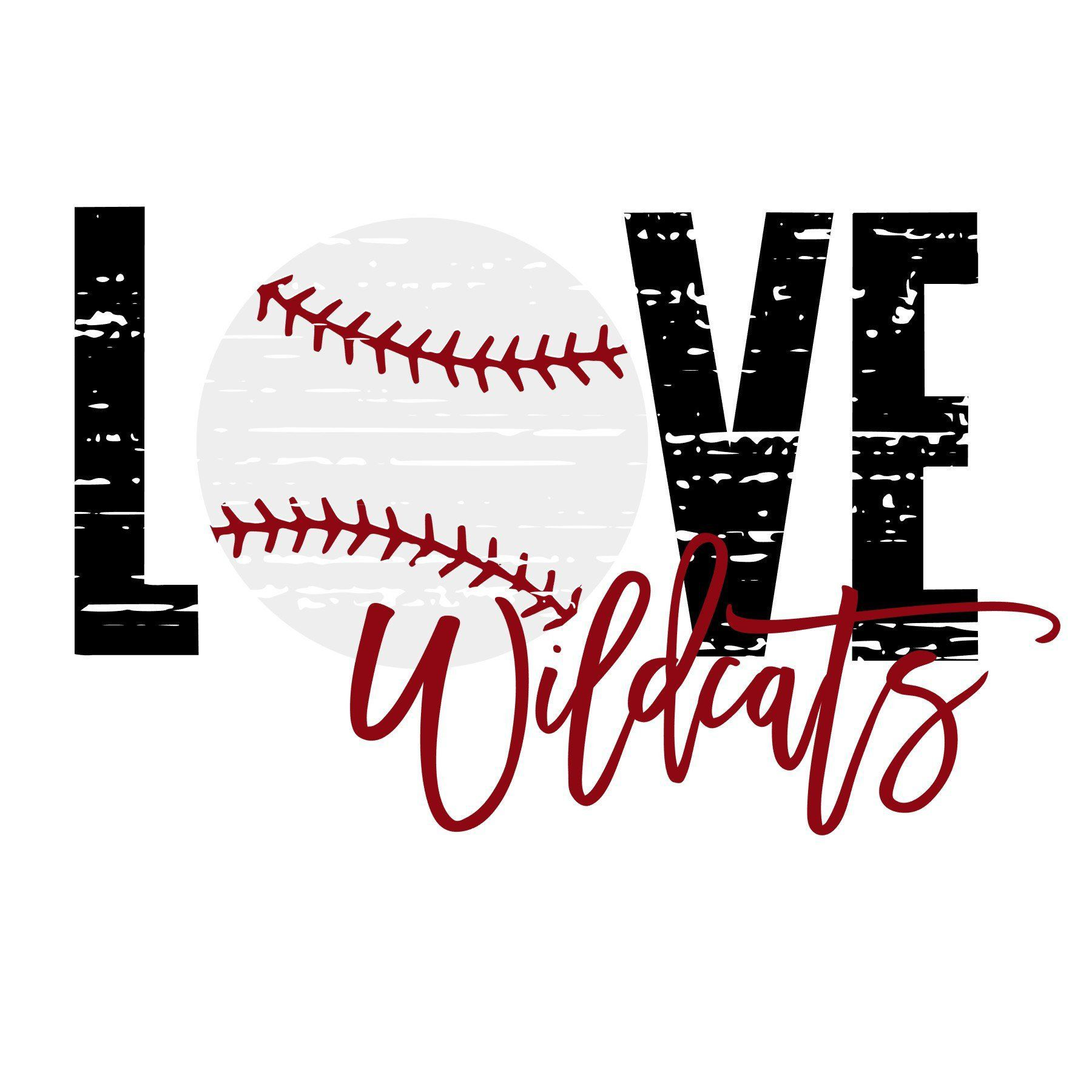 Download Love Wildcats Baseball Distressed SVG   Svg, Wild cats ...