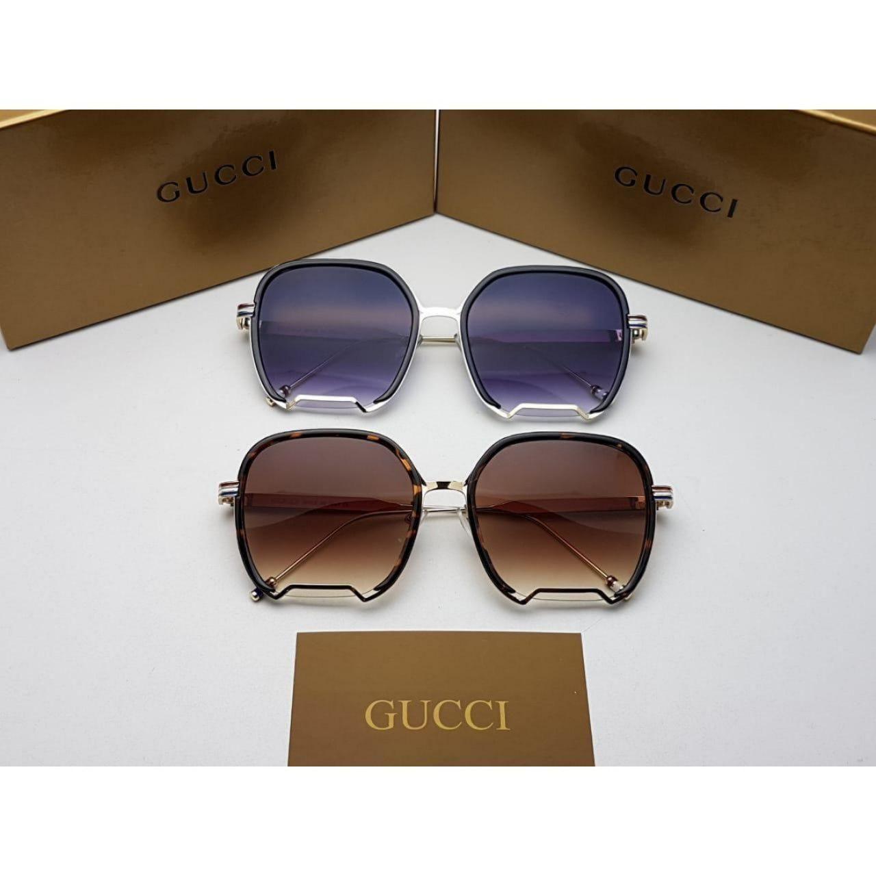 نظارات قوتشي رجالي Gucci مع جميع الملحقات و بنفس اسم الماركه هدايا هنوف Sunglasses Glasses Fashion