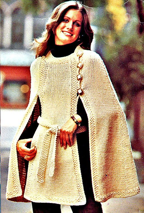 Hipster Knit Cape Pattern   Cape pattern, Knitted cape and Patterns