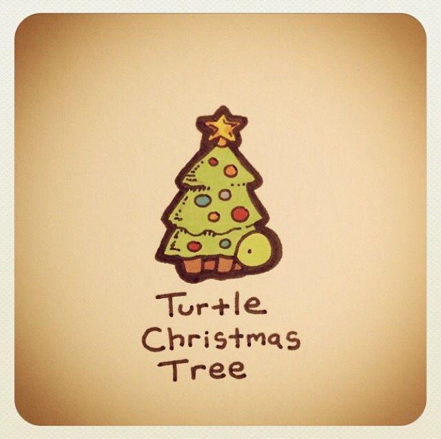Turtle Christmas Tree Turtle Drawing Cute Turtle Drawings Kawaii Turtle