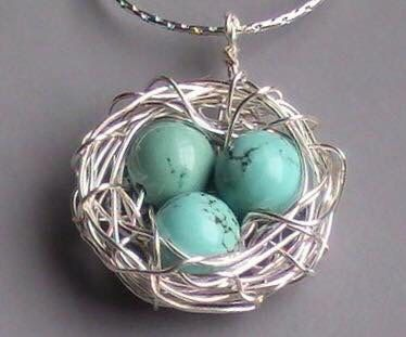 Wire wrapped birds nest pendant with by allwrappedbyalissa on etsy wire wrapped birds nest pendant with by allwrappedbyalissa on etsy aloadofball Choice Image