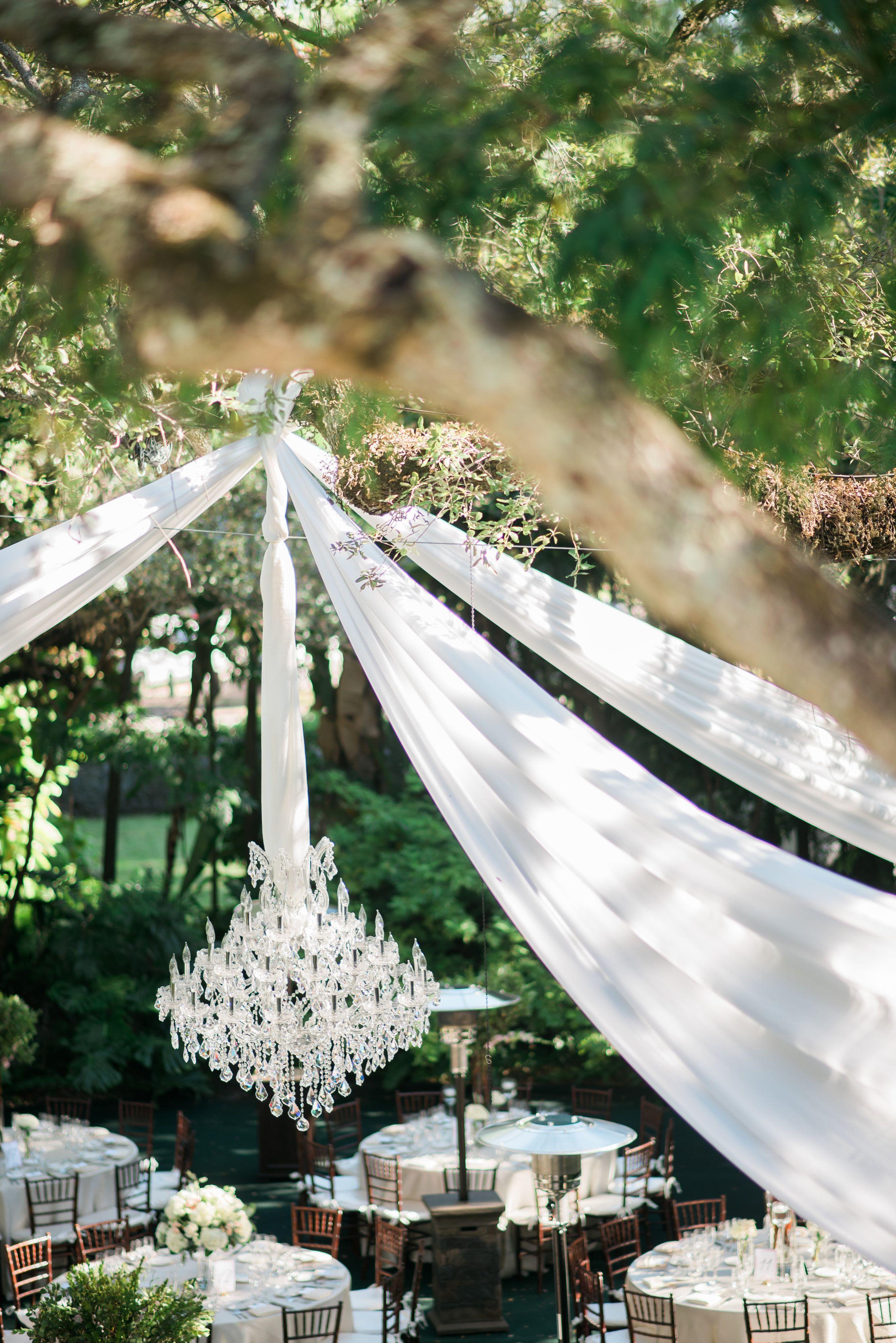 Outdoor Reception with Chandelier | Miami Wedding | Venue Villa Woodbine & Outdoor Reception with Chandelier | Miami Wedding | Venue: Villa ...