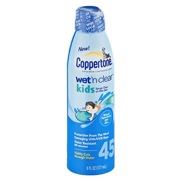 I'm learning all about Coppertone Wet 'n Clear Kids Continuous Spray at @Influenster!