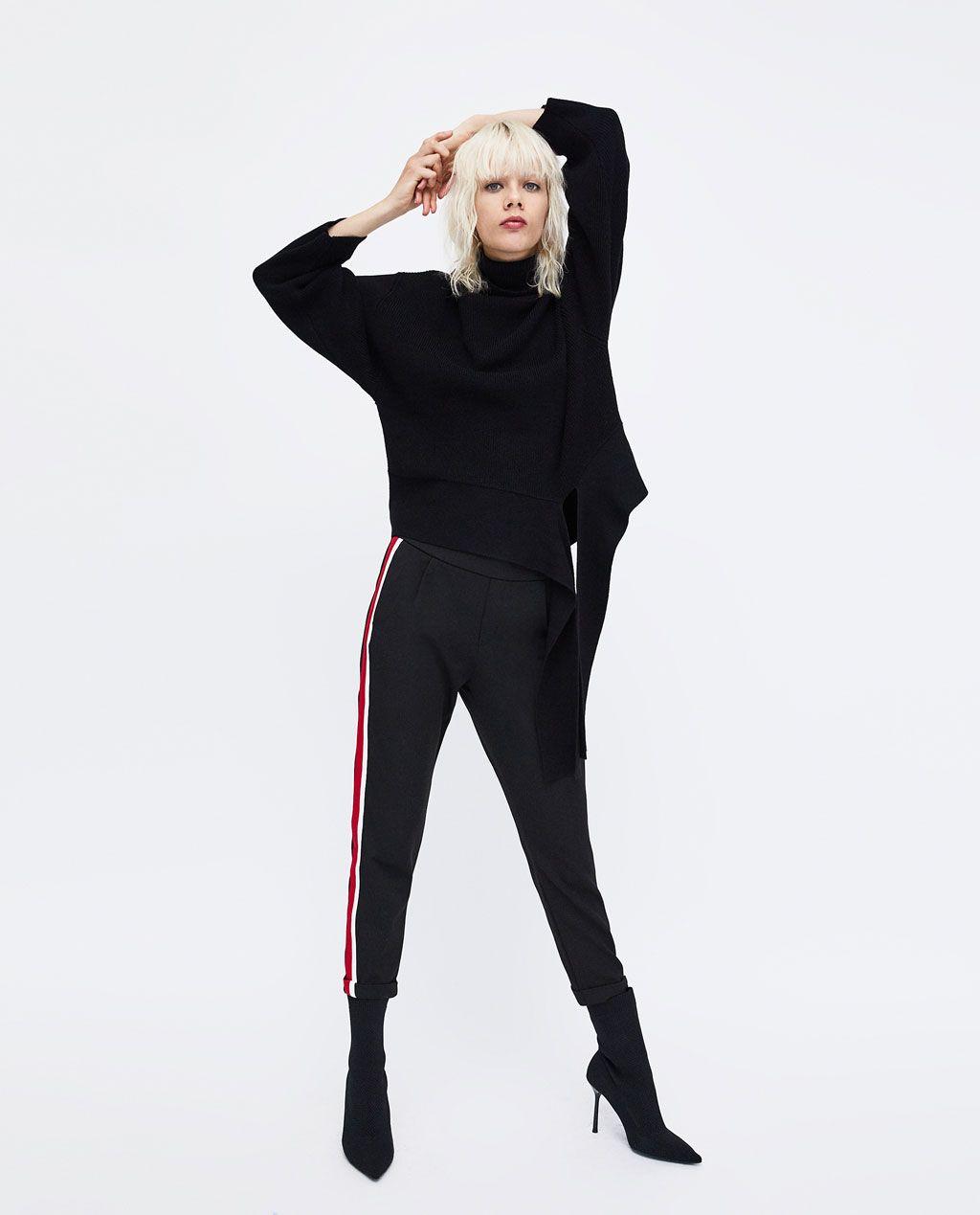 Zara Trf Chinohose Mit Seitenstreifen Hosen Zara Hosen Modestil